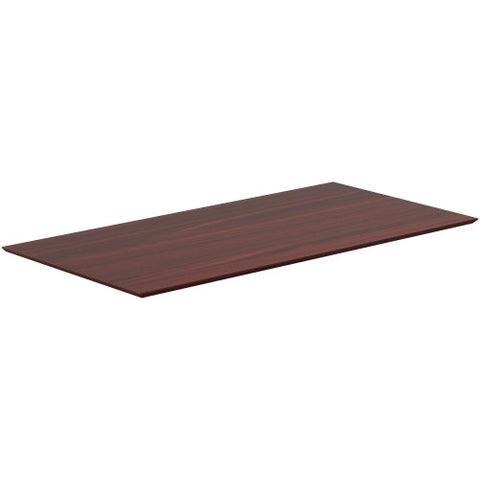 Lorell Electric Height-Adjustable Mahogany Knife Edge Tabletop ; UPC: 035255596091