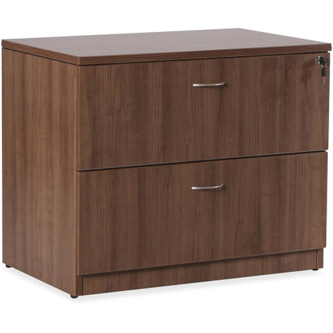 Lorell Essentials Series Walnut Laminate Lateral File ; UPC: 035255699723