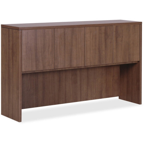 Lorell Essentials Series Walnut 3-Door Hutch ; UPC: 035255699785