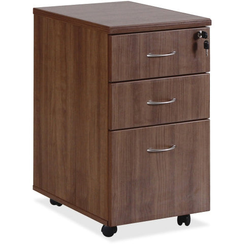 Lorell Essentials Walnut Freestanding Mobile Pedestal ; UPC: 035255699839
