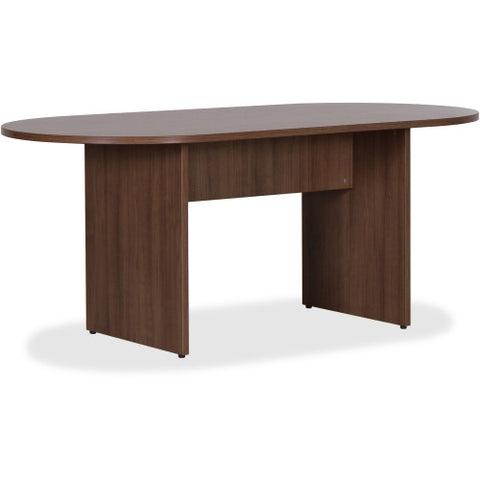 Lorell Essentials Walnut Laminate Oval Conference Table ; UPC: 035255699884