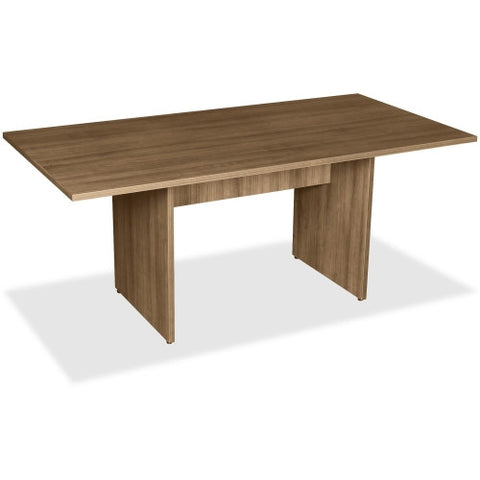 Lorell 2-Panel Base Rectangular Walnut Conference Table ; UPC: 035255699969