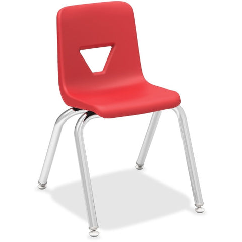 "Lorell 14"" Seat-height Stacking Student Chair ; UPC: 035255998857"