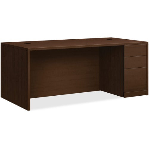 "HON 10500 Series Right Pedestal Desk | 2 Box / 1 File Drawer | 72""W x 36""D x 29-1/2""H 