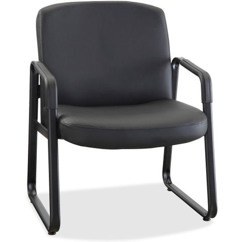 Lorell Big and Tall Leather Guest Chair ; UPC: 035255845878