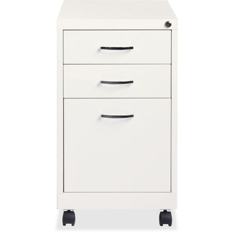 Lorell White 3-drawer Mobile Pedestal File ; UPC: 029404210280