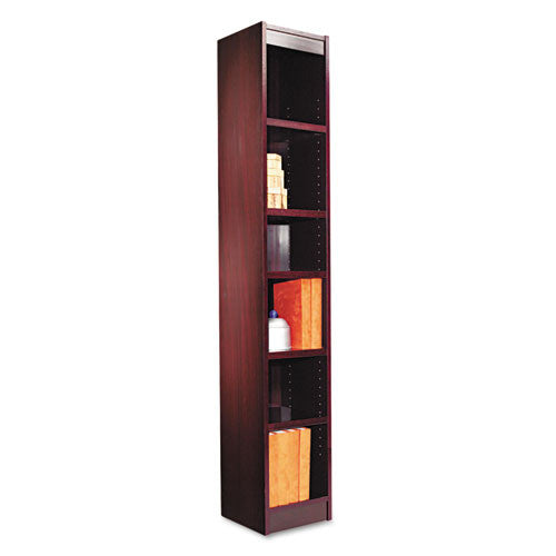 Alera Narrow Profile Bookcase With Finished Back ALEBCS67212MY,  (UPC:042167100322)