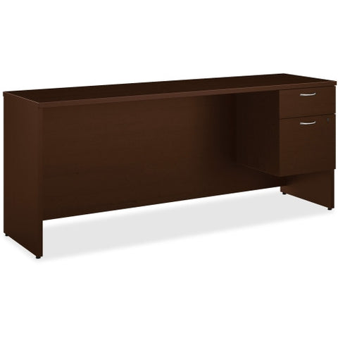 HON 101 Series Mocha Laminate Right Pedestal Credenza ; UPC: 888206052302
