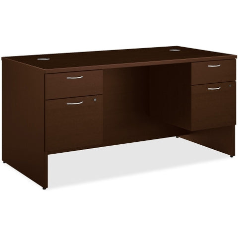 HON 101 Series Mocha Laminate Double Pedestal Desk ; UPC: 888206519355