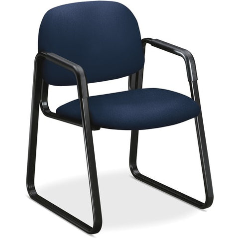 HON Solutions Seating Sled Base Guest Chair | Fixed Arms | Navy Fabric ; UPC: 888206724780 ; Image 2