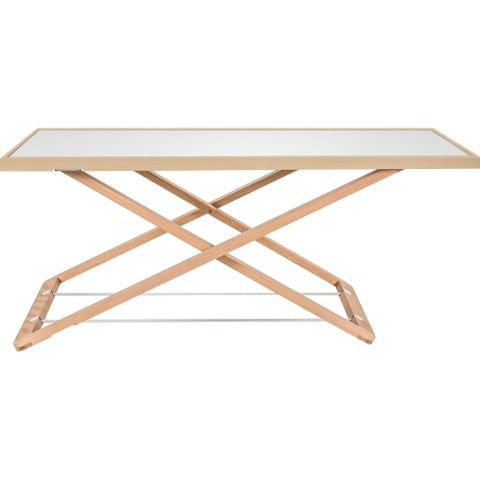 Lorell Ultra-slim Desk Riser in White, Natural