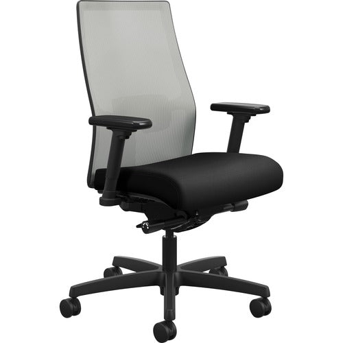 HON Ignition 2.0 Mid-Back Adjustable Lumbar Work Chair - Fog Mesh Computer Chair for Office Desk, Black Fabric (HONI2M2AFLC10TK) ; UPC: 888206730880 ; Image 1
