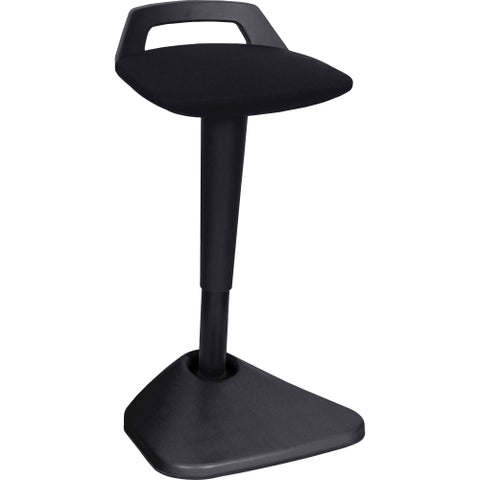 Lorell Pivot Chair in Fabric with Black Seat
