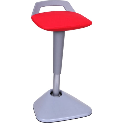 Lorell Pivot Chair in Fabric with Red Seat