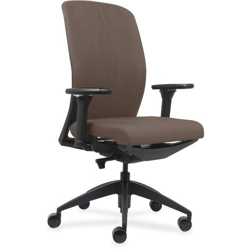 Lorell Made in America Executive Chairs w/Fabric Seat & Back in Beige ; UPC: 035255830751