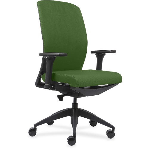 Lorell Made in America Executive Chairs w/Fabric Seat & Back in Green ; UPC: 035255830751