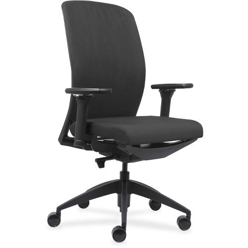 Lorell Made in America Executive Chairs w/Fabric Seat & Back in Ash Gray ; UPC: 035255830751