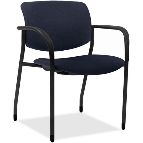 Lorell Made in America Contemporary Stacking Chairs in Dark Blue, 2/CT ; UPC: 035255830751