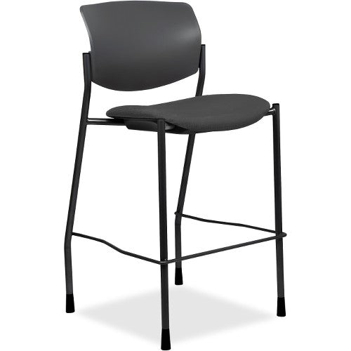 Lorell Made in America Fabric Seat Contemporary Stool in Ash Gray ; UPC: 035255830751