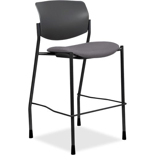 Lorell Made in America Vinyl Seat Contemporary Stool in Ash Gray Vinyl ; UPC: 035255830751