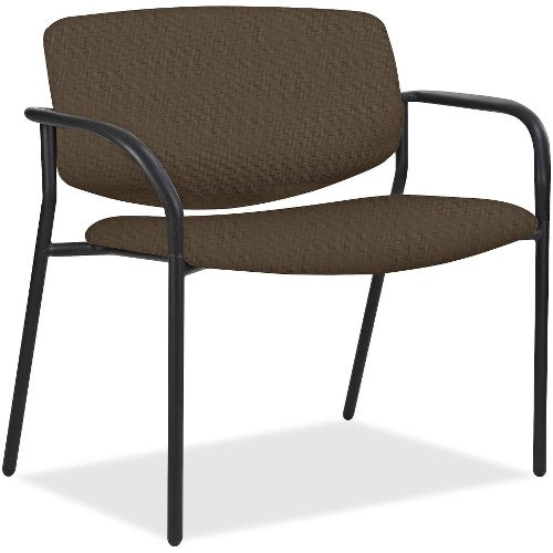 Lorell Made in America Bariatric Guest Chairs w/Fabric Seat & Back in Beige ; UPC: 035255830751