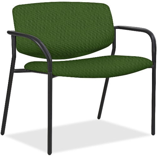 Lorell Made in America Bariatric Guest Chairs w/Fabric Seat & Back in Fern ; UPC: 035255830751