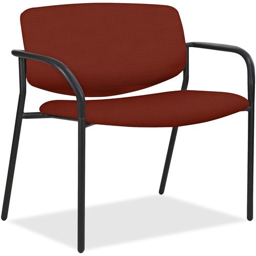 Lorell Made in America Bariatric Guest Chairs w/Fabric Seat & Back in Orange ; UPC: 035255830751