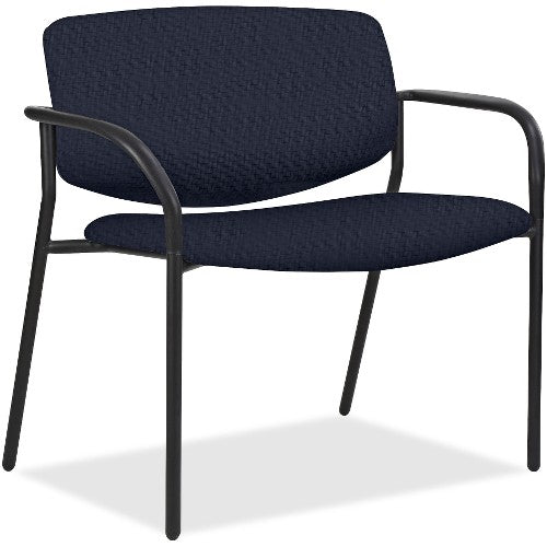 Lorell Made in America Bariatric Guest Chairs w/Vinyl Seat & Back in Black ; UPC: 035255830751