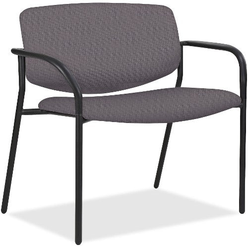 Lorell Made in America Bariatric Guest Chairs w/Vinyl Seat & Back in Ash Gray ; UPC: 035255830751