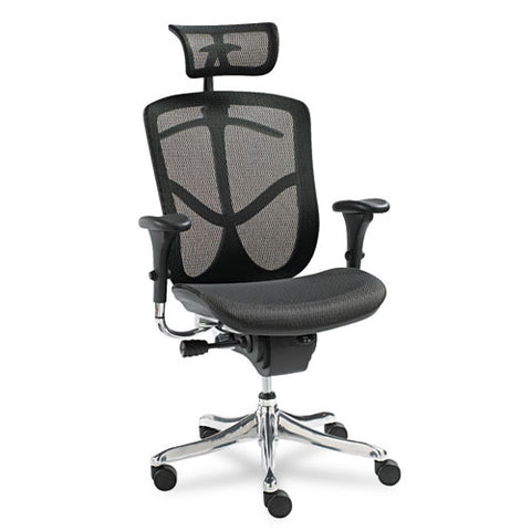 Alera EQ Series Ergonomic Multifunction High-Back Mesh Chair ALEEQA41ME10A,  (UPC:042167381066)