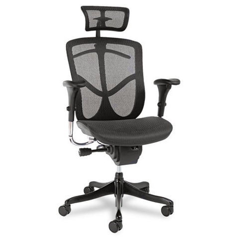 Alera EQ Series Ergonomic Multifunction High-Back Mesh Chair ALEEQA41ME10B,  (UPC:042167381103)