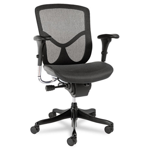Alera EQ Series Ergonomic Multifunction Mid-Back Mesh Chair ALEEQA42ME10B,  (UPC:042167381110)