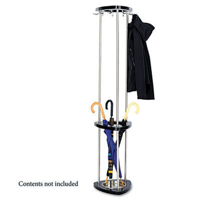 Safco Mode Costumer with Umbrella Rack ; (073555421422); Color:Black Base