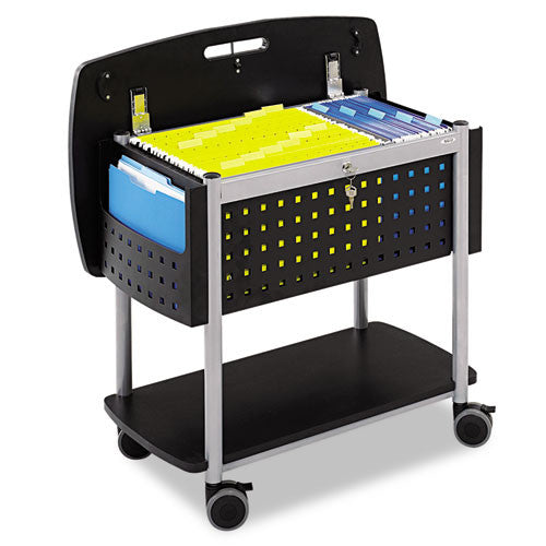 Safco Scoot Mobile File Cart SAF5370BL, Black (UPC:073555537024)