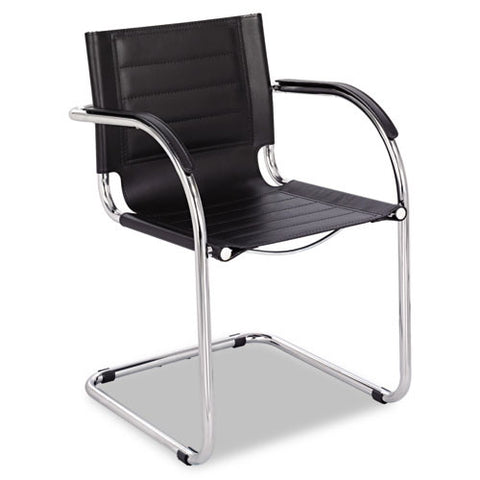 Safco Flaunt Guest Chair with Arm SAF3457BL, Black (UPC:073555345704)