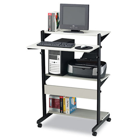 Mayline Adjustable Computer Table MLN8432SOGRYBLK ; UPC: 198860102375