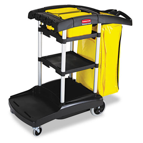 Rubbermaid High Capacity Cleaning Cart RCP9T7200BK, Black (UPC:086876180572)