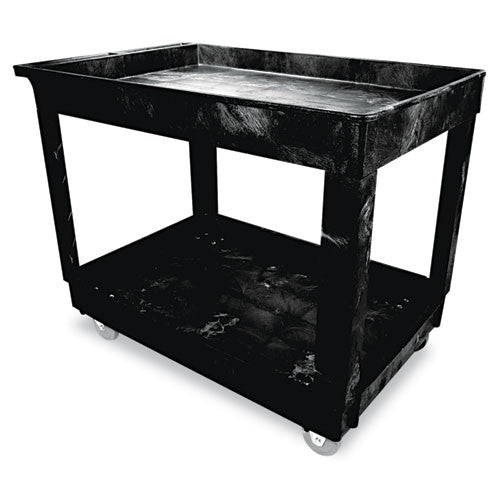 "Rubbermaid 4"" Casters 2-shelf Utility Cart RCP9T6700BLA, Black (UPC:086876175097)"