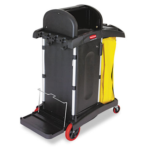Rubbermaid Commercial High-Security Healthcare Cleaning Cart RCP9T7500BK,  (UPC:086876180602)