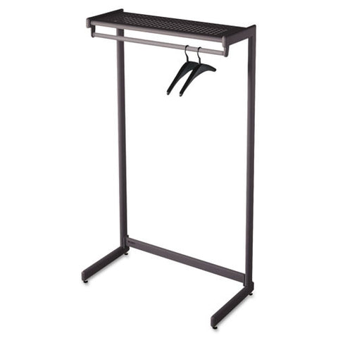 Quartet One-Shelf Garment Rack ; (034138202142); Color:Black
