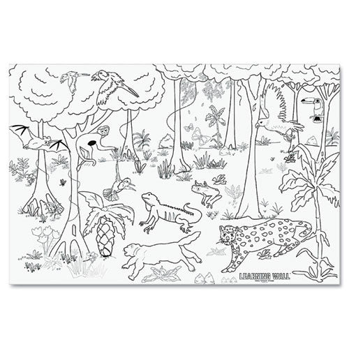 Learning Walls Kid Learning Wall Mural ; (029444788404)