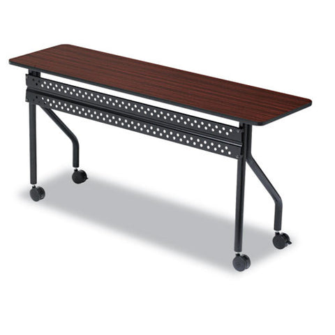Iceberg OfficeWorks 68058 Mobile Training Table ICE68058, Mahogany (UPC:674785680582)