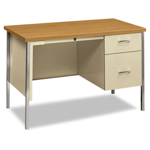 HON 34000 Series Small Office Desk in Harvest/Putty ; UPC: 089192277681