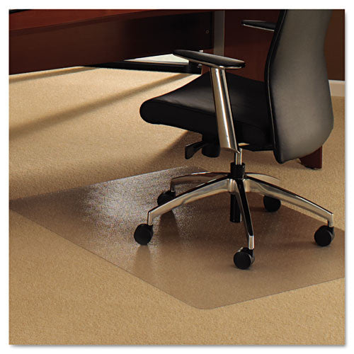 Floortex Rectangular Chair Mat FLR118927ER, Clear (UPC:874951001023)