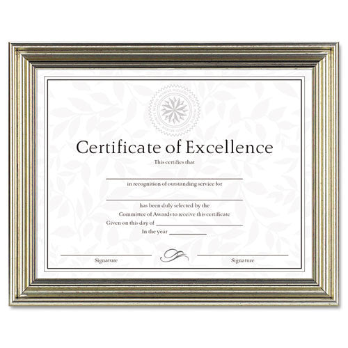 Dax Antique-Colored Certificate Frame ; (076795266242)