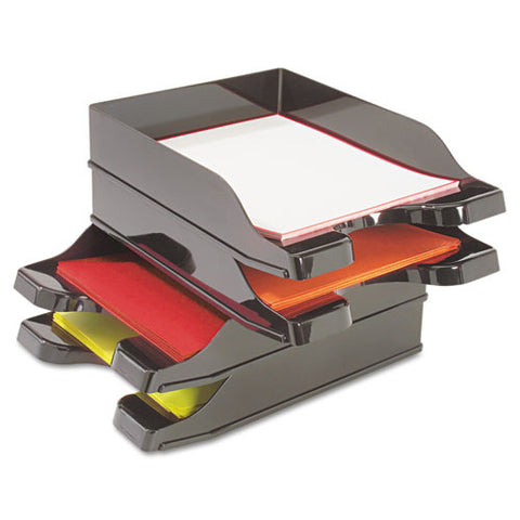 Deflecto Docutray Multi-Directional Stacking Tray DEF63904, Black (UPC:079916639048)