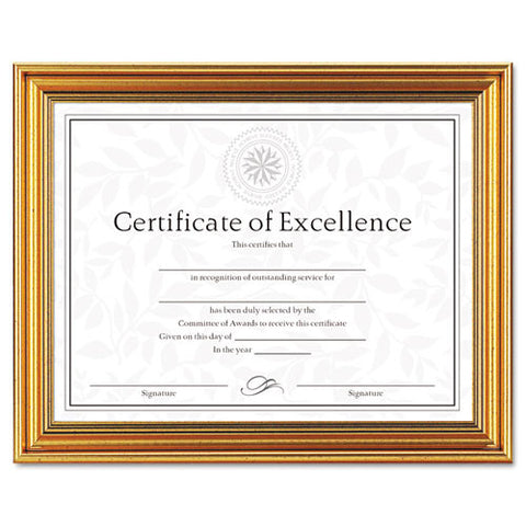 Dax Antique-Colored Certificate Frame ; (076795266228)