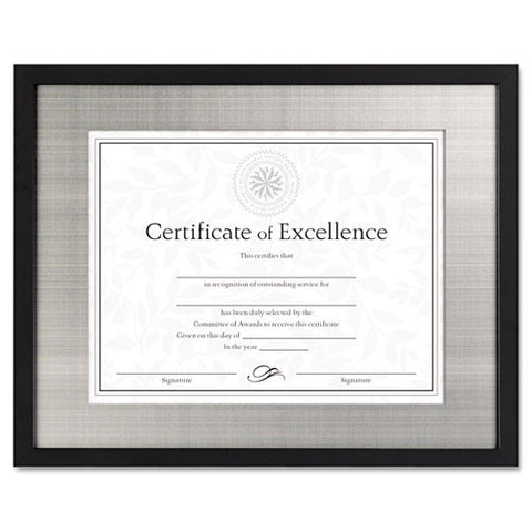 Dax Metal Mat Wood Document Frame ; (076795233930); Color:Black