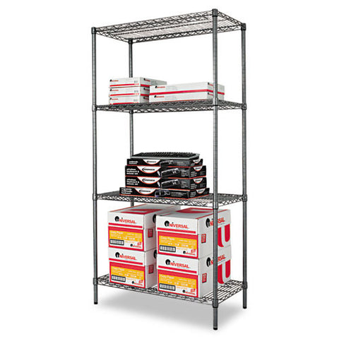 Alera Black Anthracite Wire Shelving Kit ALESW503618BA,  (UPC:042167924355)