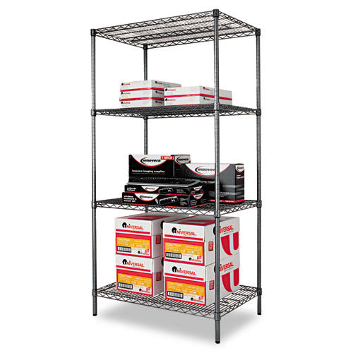 Alera Black Anthracite Wire Shelving Kit ALESW503624BA,  (UPC:042167924362)